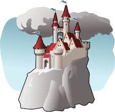 slott på berg