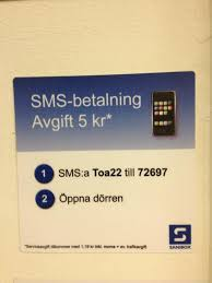 Bildresultat för sms betalning toalett